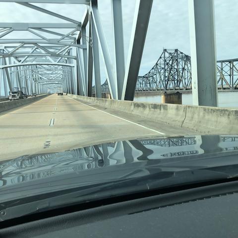 Bridge over the Mississippi River.
